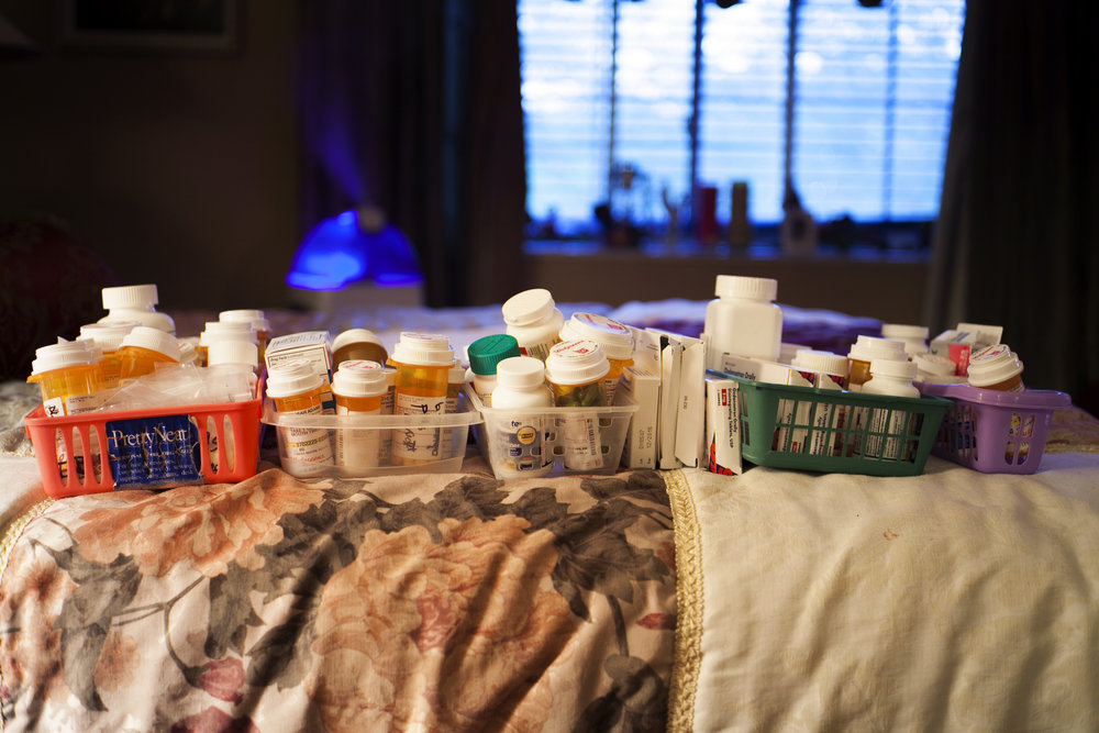 ©Melissa Spitz, All of Mom's Prescriptions, 2014