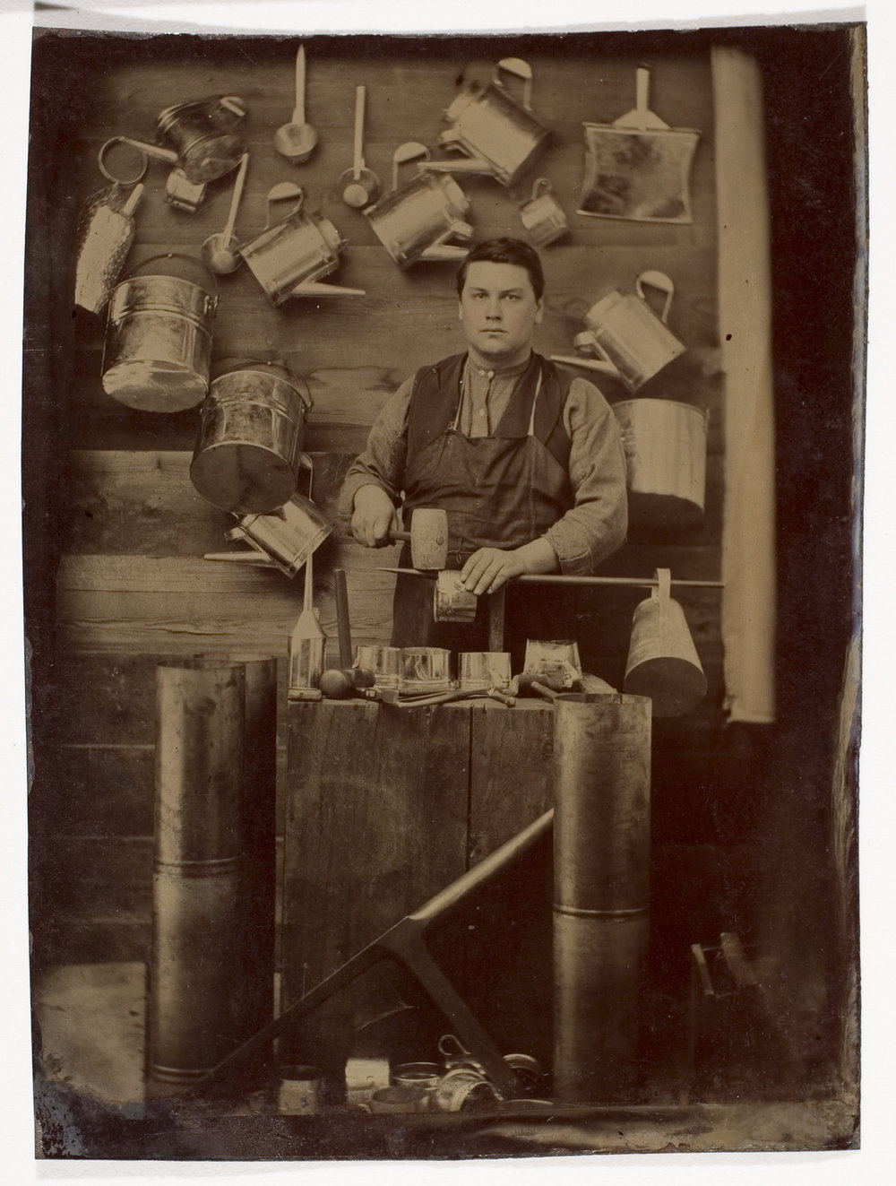 Unidentified Photographer, [Tinsmith],  ca. 1870. International Center of Photography, Gift of Steven Kasher and Susan Spungen Kasher, 2008 (2008.81.10)