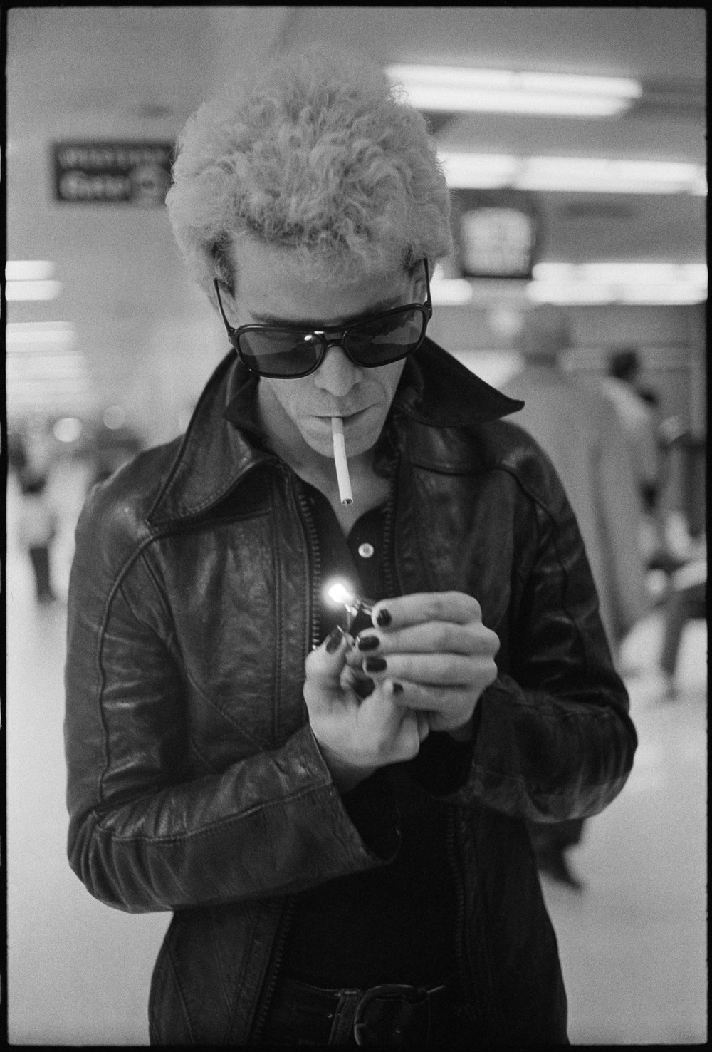 Lou Reed and San Francisco International Airport.  November 24, 1974