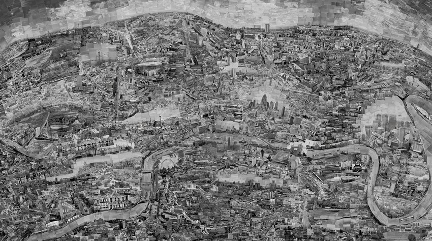 Sohei Nishino, Diorama Map London, 2010; courtesy the artist and Michael Hoppen Gallery, London; © Sohei Nishino