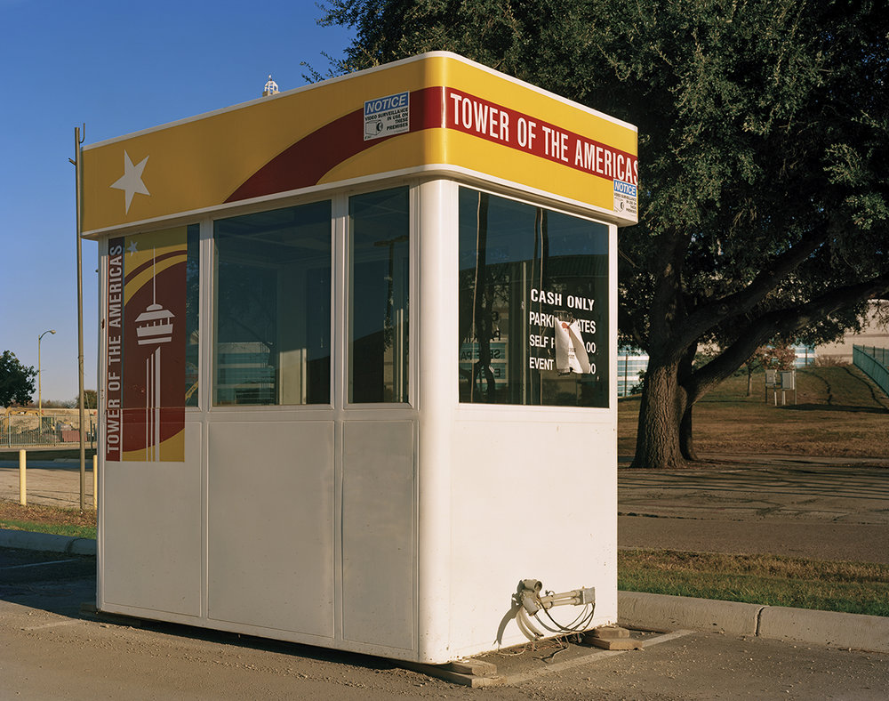 "San Antonio 1968 World's Fair, ""The Confluence of Civilizations in the Americas,"" Tower of the Americas Ticket Booth, 2013 ©Jade Doskow"