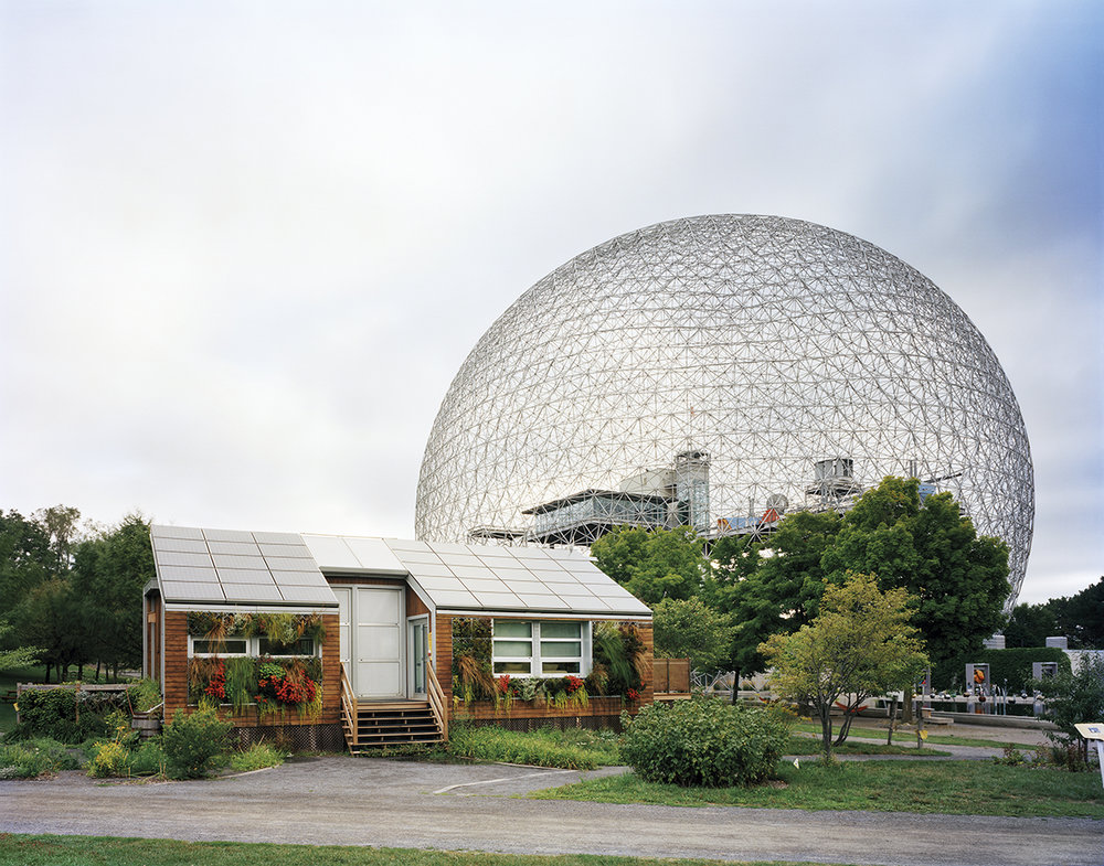 "Montreal 1967 World's Fair, ""Man and His World,"" Buckminster Fuller's Geodesic Dome With Solar Experimental House, 2012 ©Jade Doskow"
