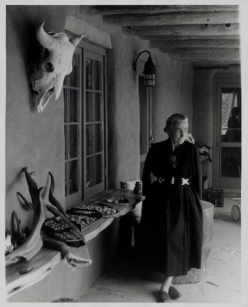 Todd Webb (American, 1905-2000).  Georgia O'Keeffe on Ghost Ranch Portal, New Mexico , circa 1960s. Gelatin silver print, 10 x 8 in. (25.4 x 20.3 cm). Georgia O'Keeffe Museum, Santa Fe, N.M.; Gift of The Georgia O'Keeffe Foundation, 2006.06.1046. © Estate of Todd Webb, Portland, ME