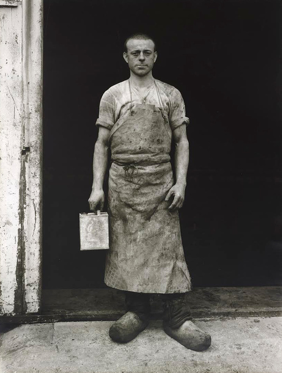 Image courtesy of  Hauser & Wirth . August Sander,  Lackarbeiter (Varnisher) , circa 1930/1972, Gelatin silver print, 79.5 x 60.1 cm / 31 1/4 x 23 5/8 in. © 2017 Die Photographische Sammlung / SK Stiftung Kultur - August Sander Archiv, Cologne / ARS, NY
