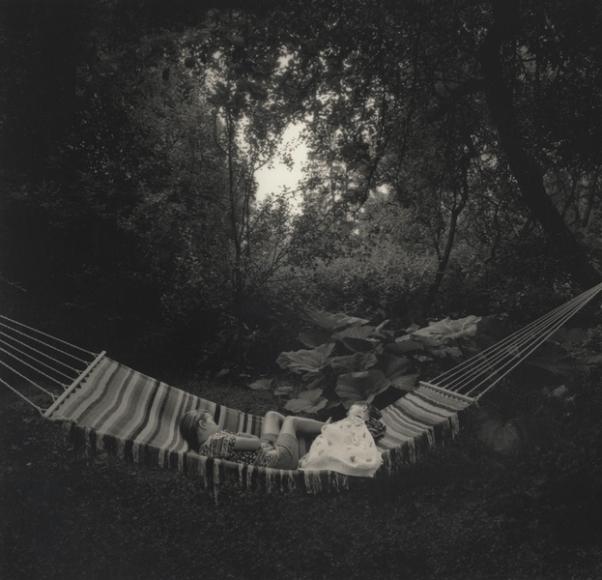 Pentti Sammallahti (b. 1950, Helsinki) Kemiö, Finland (hammock), 1996 Gelatin silver print 7 5/8 x 7 7/8 in. (19.4 x 20 cm) image 11 3/4 x 9 1/2 in. (29.8 x 24.1 cm) paper