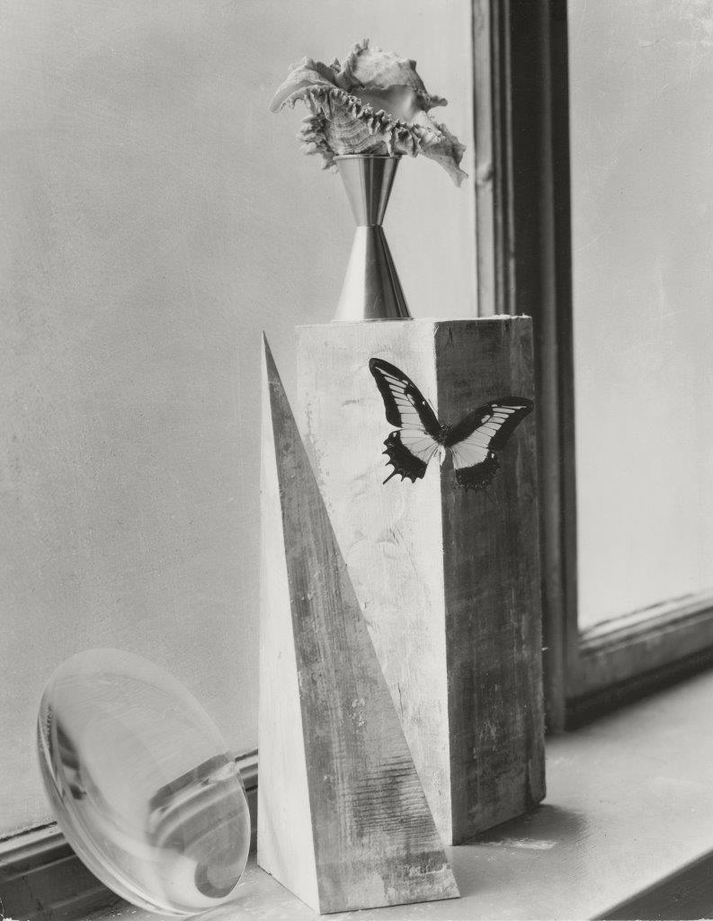 Leslie Gill,  Composition of Objects on Windowsill , 1937, Gelatin silver print; printed c. 1937 13 7/8 x 10 7/8 in