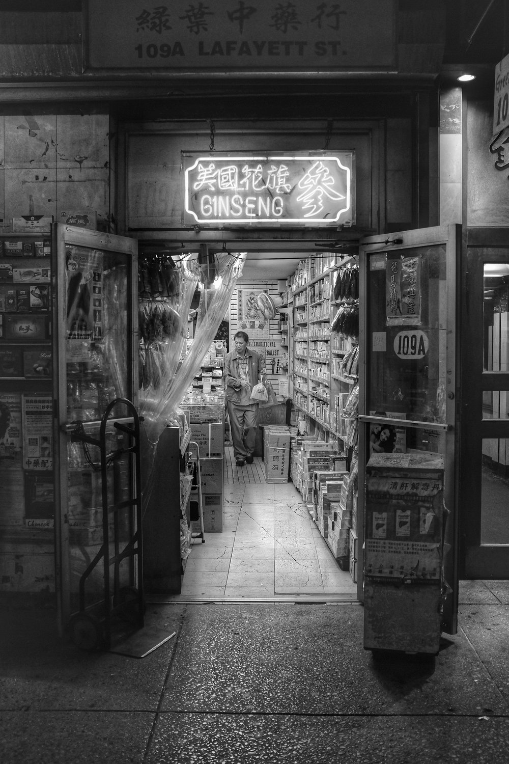 Green Leaf Herbal Inc. Chinatown. New York City. 2016.