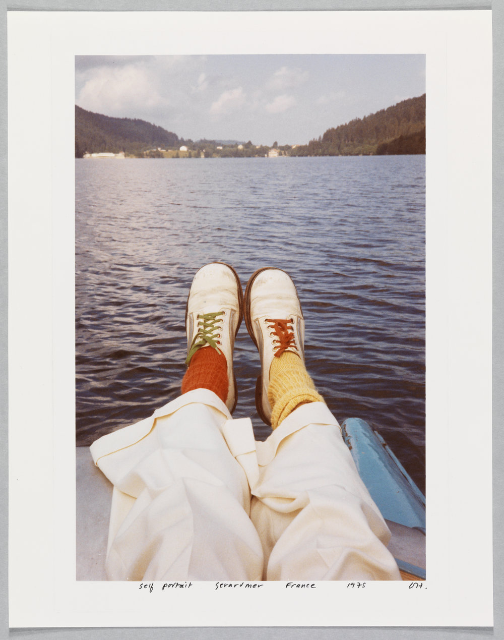 "David Hockney ""Self Portrait Gerardmer France 1975"" Chromogenic Print 14 1/4 X 11 1/4"" © David Hockney. Photo credit: Richard Schmidt"