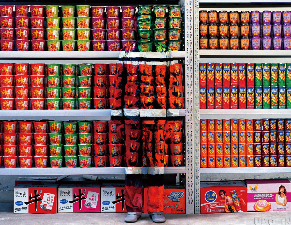 'Hiding in the City No.83 Supermarket' by Liu Bolin