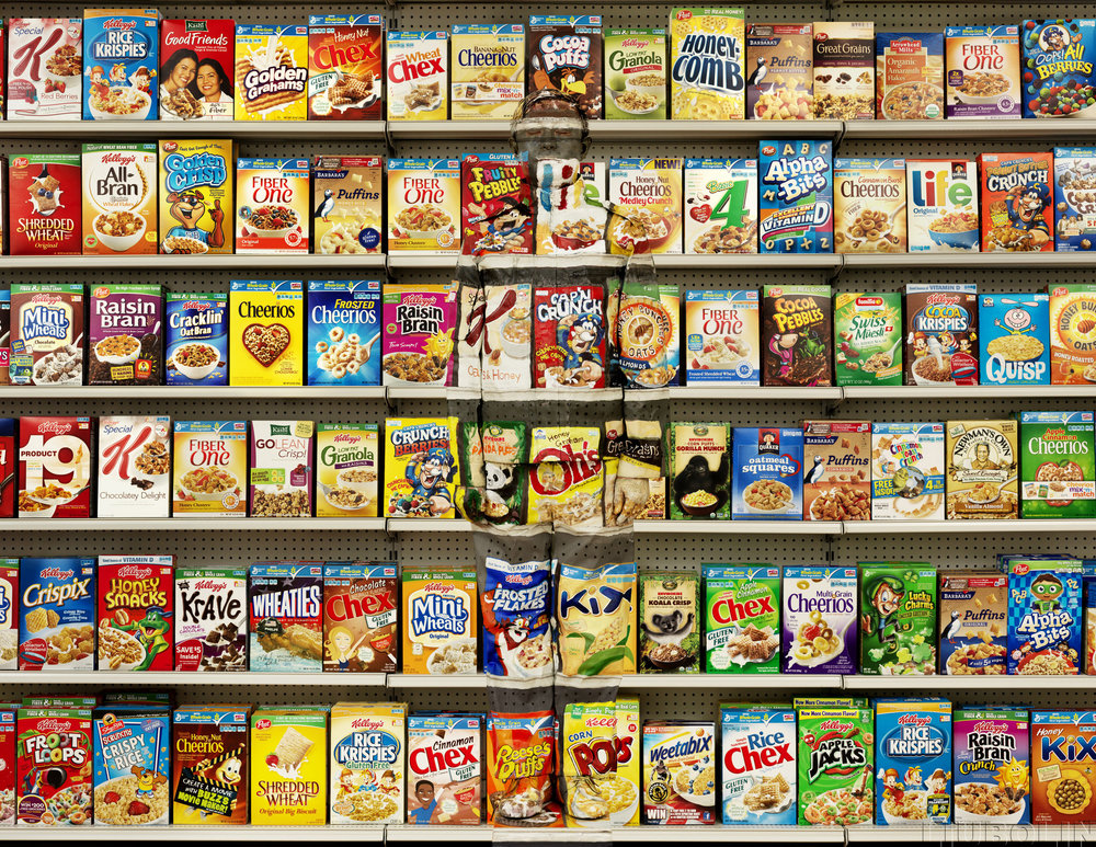 'Hiding in New York No.8 Cereal' by Liu Bolin