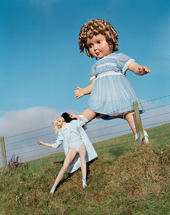 'Giant Doll kicks Linsey Wixson'  2011 © Tim Walker