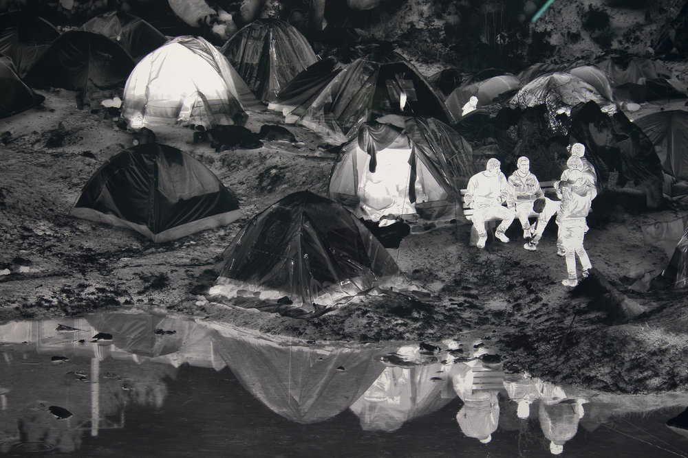 'Idomeni Camp, Greece (detail)  © Richard Mosse