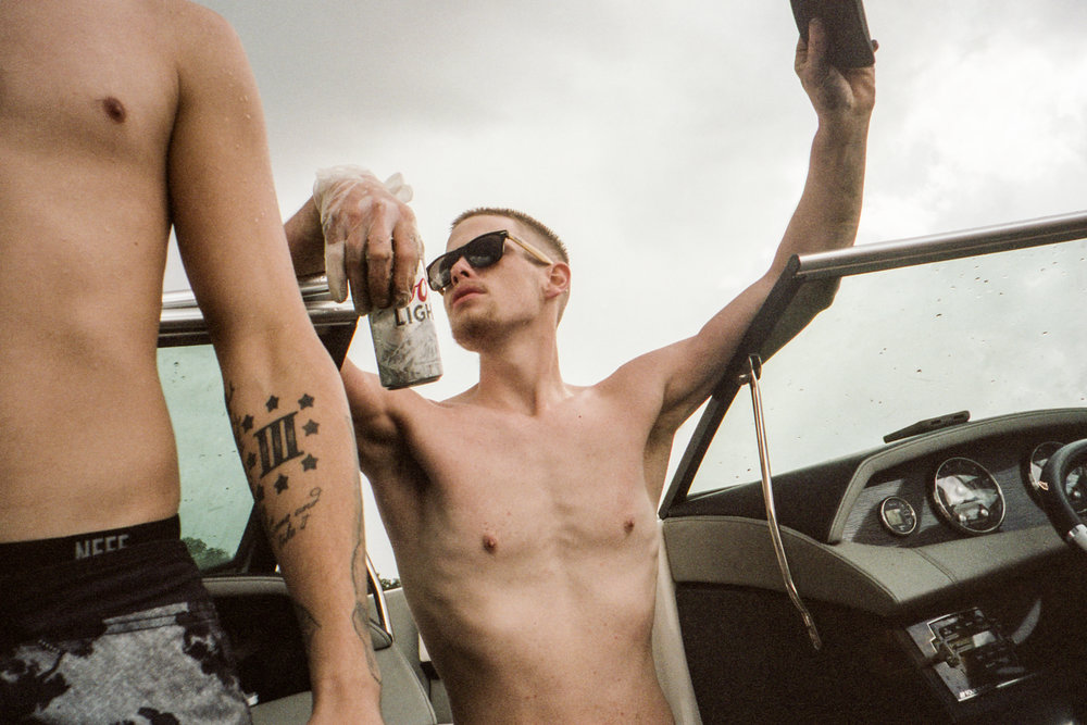 'Adam on the Boat (Texas)' 2017 ©  Lauren Withrow
