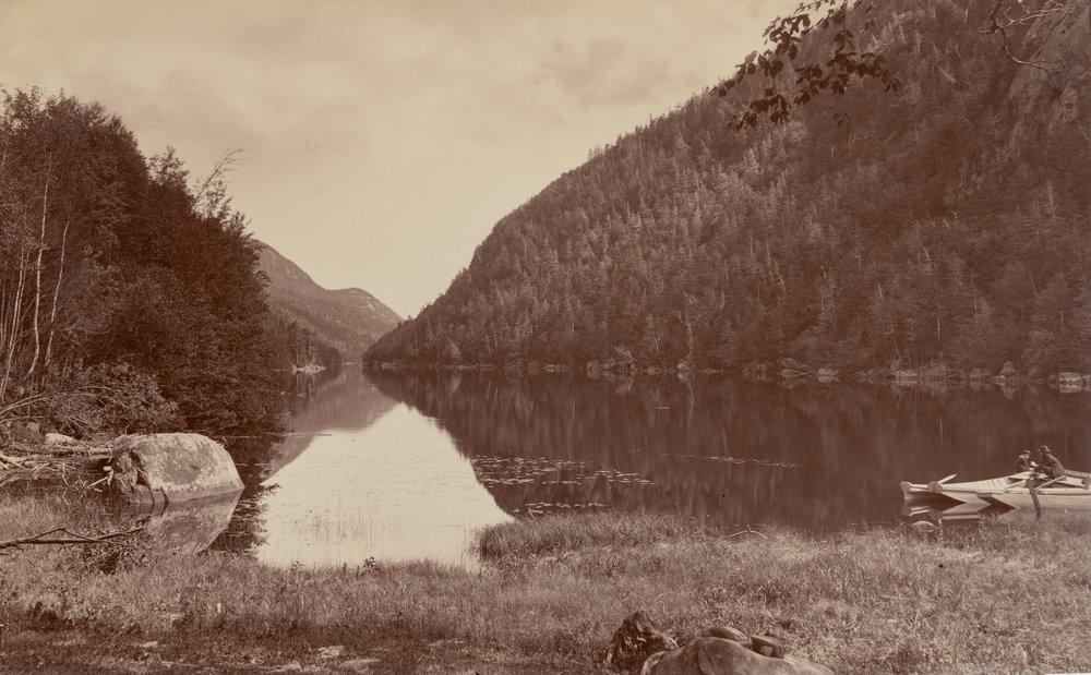Cascade Lake, Adirondacks, 1870s-1880s © Seneca Ray Stoddard / Albumen print /Image: 25.1 × 40.7 cm (9 7/8 × 16 in.) /National Gallery of Art, Washington, The Diana and Mallory Walker Fund and Veverka Family Foundation Fund