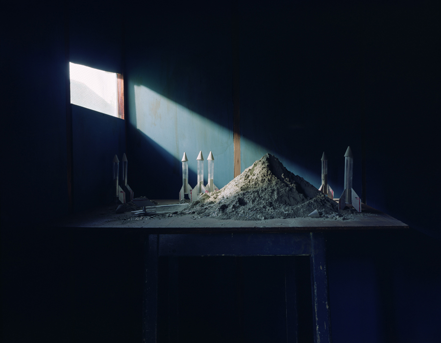 Moon dust stockpile, New Forest, England. Annabel Elgar, 2014