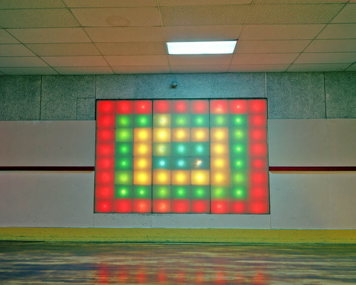 Wall lights, CN Skate palace, Penna. 2002. Except where noted, all site content is copyright Lisa Kereszi 2009–2017. All rights reserved.