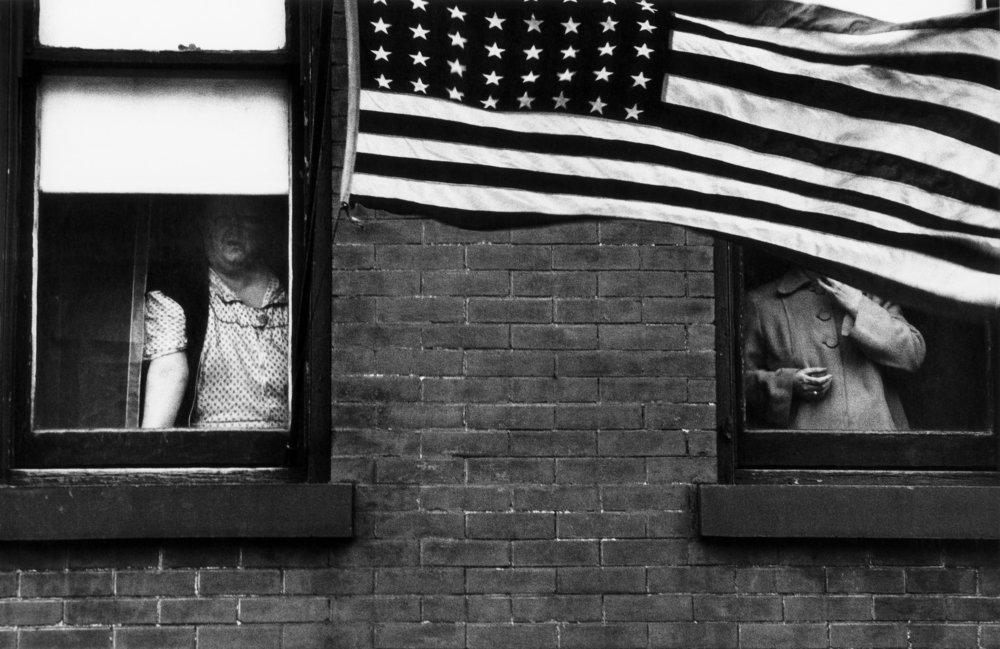 Parade, Hoboken, New Jersesy, 1955. From The Americans. © Robert Frank