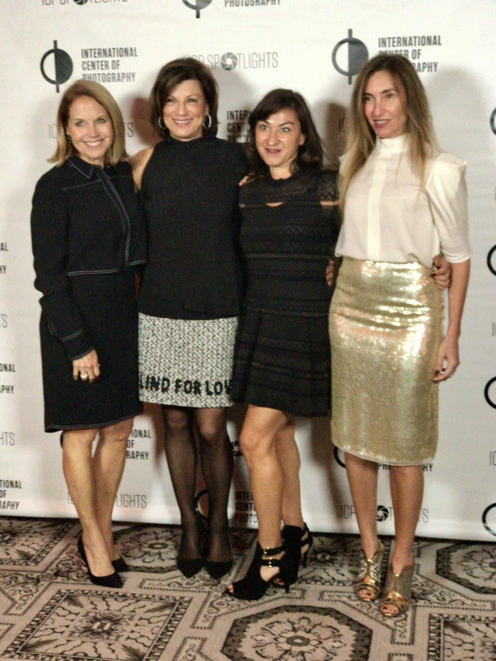 From left: Katie Couric, Debbie Wilpon, Lynsey Addario and Debby Hymowitz