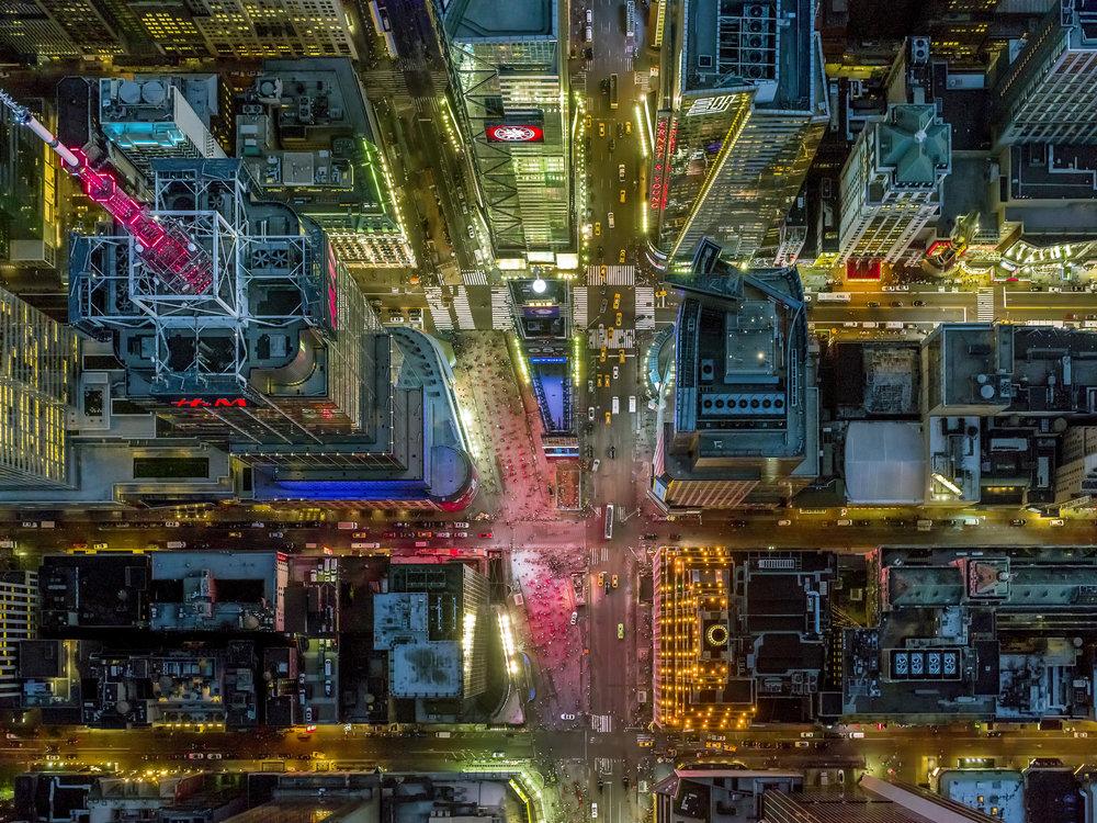 Times Square,LA NY.Jeffrey Milstein © 2017