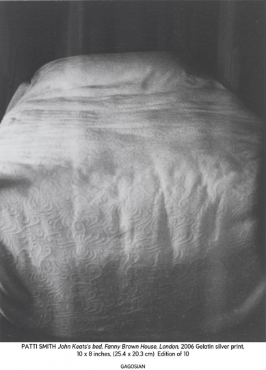 John Keats's bed, Fanny Brown House, London © Patti Smith