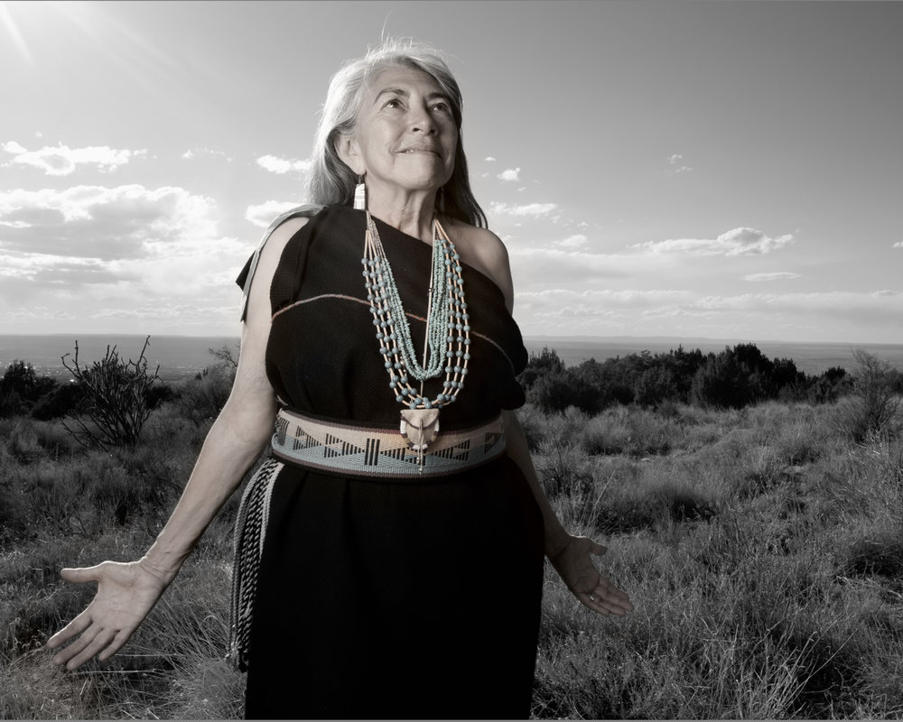 Dr. Mary Evelyn Belgarde  ( Pueblo of Isleta and Ohkay Owingeh), 2014 © Matika Wilbur.