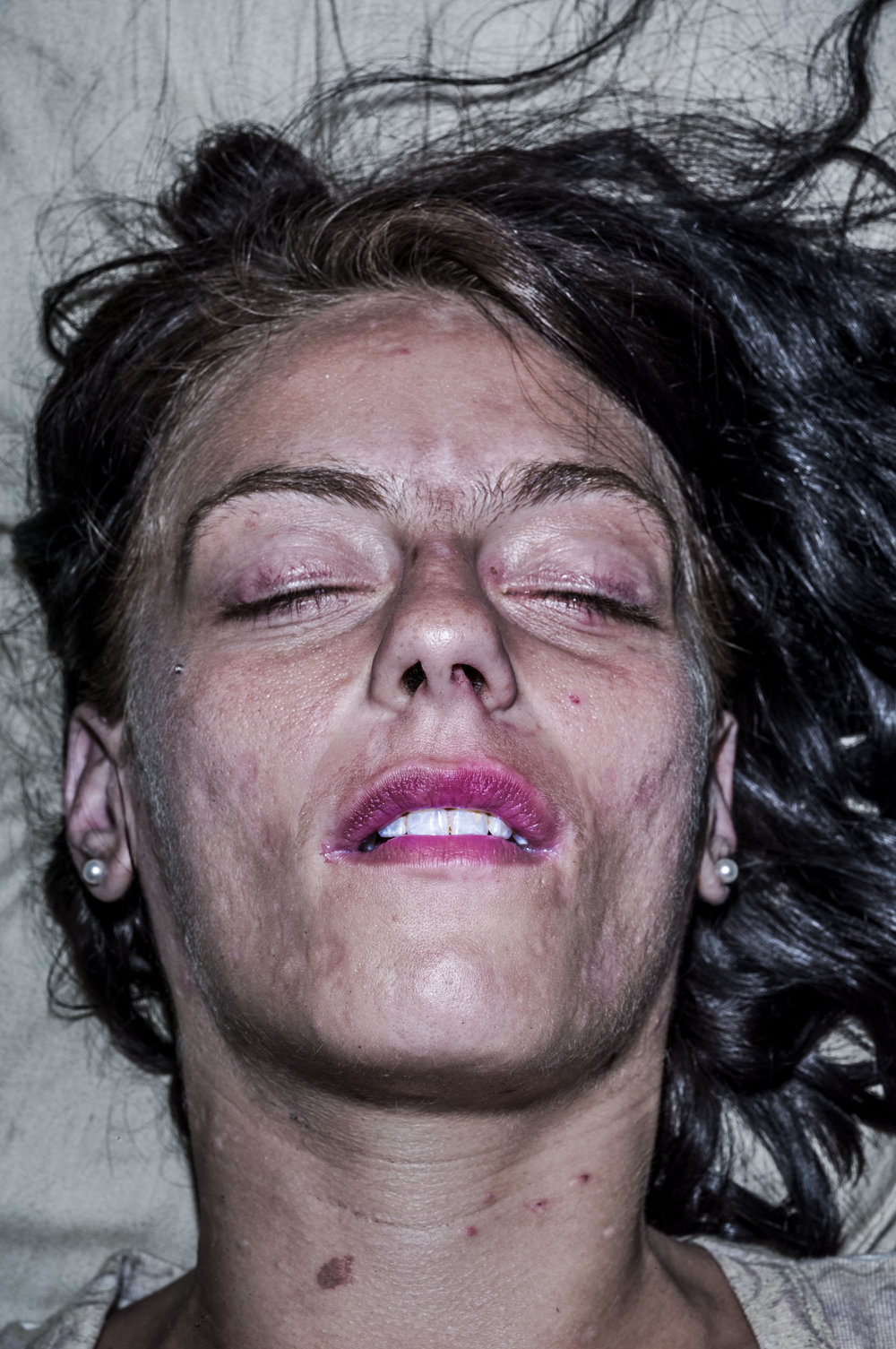 Bruce Gilden, Jesse (Sleeping), 2017.