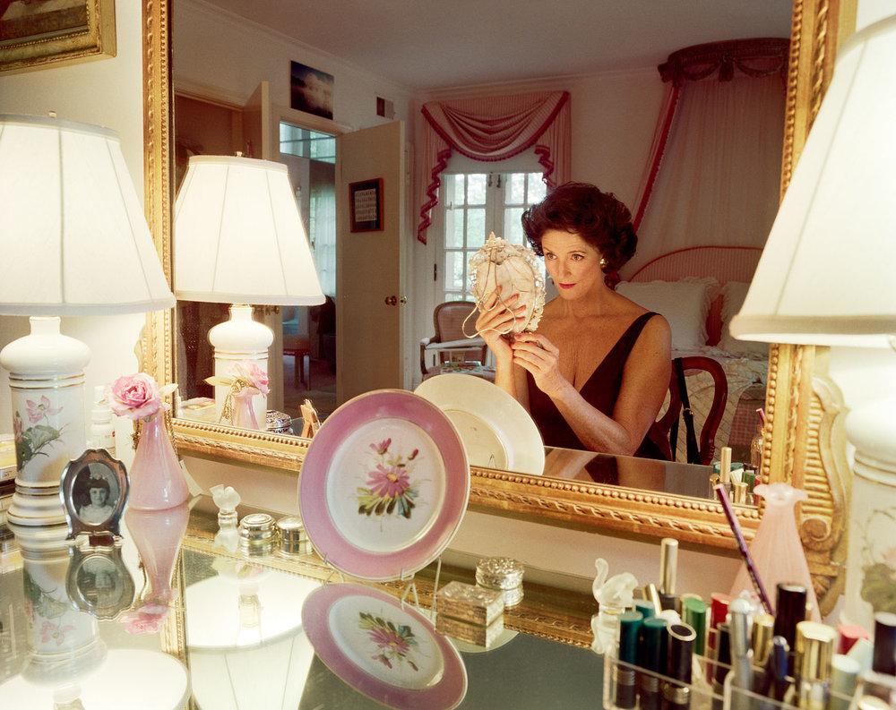 """Mum applying make-up, Washington D.C. , 1994 © Sage Sohier 22 x 27.5"""" image on 28 x 33.75"""" paper"""