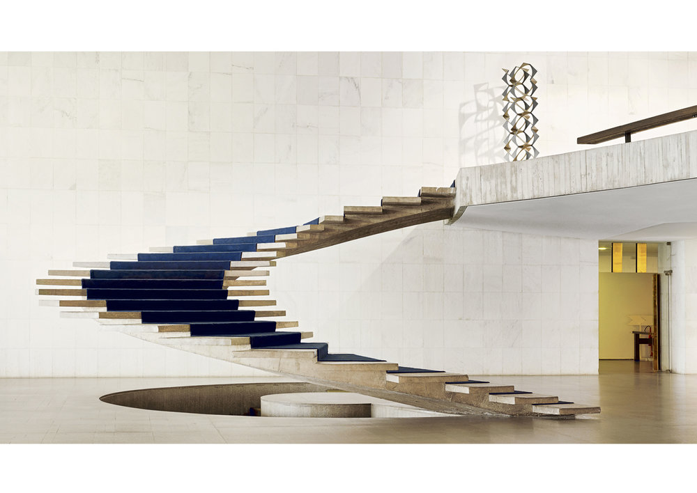 The Itamaraty Palace - Foreign Relations Ministry, spiral stairs, Brasilia, 2012   © Vincent Fournier