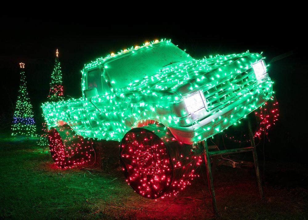 Merry Monster Truck, New Braunfels, TX.  2016 Santa's Ranch © Jesse Rieser