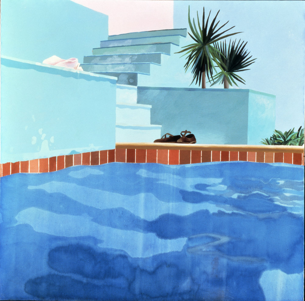 Pool and Steps, Le Nid du Duc  (1971) © David Hockney