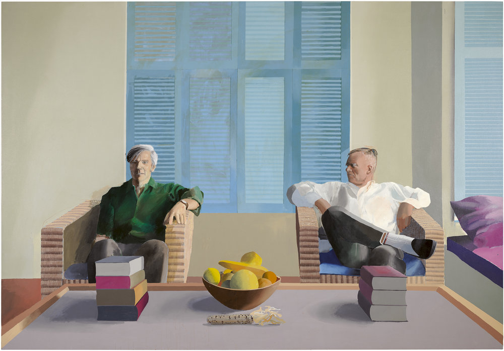 Christopher Isherwood and Don Bachardy  (1968) © David Hockney