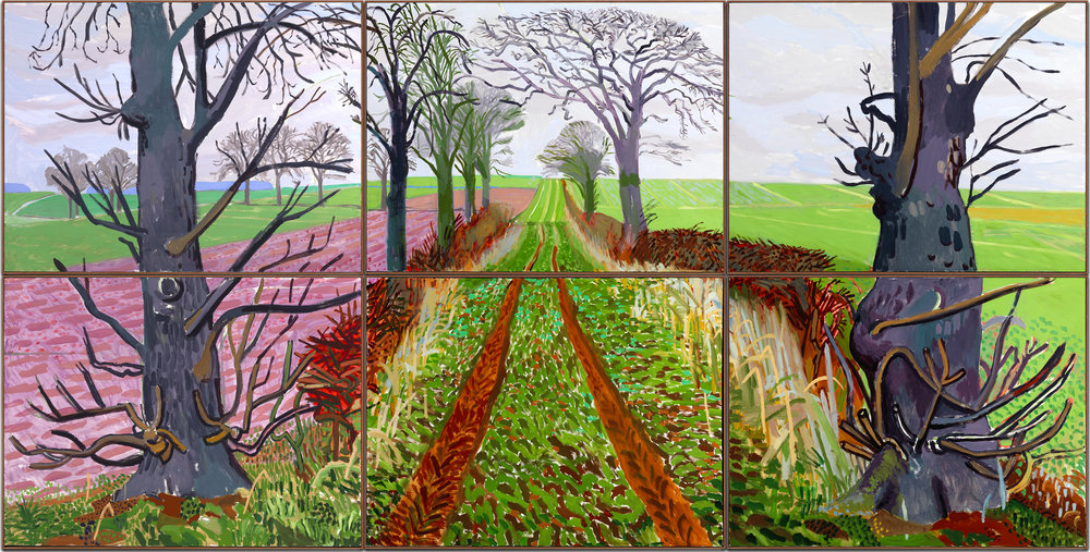 A Closer Winter Tunnel, February – March  (2006) © David Hockney