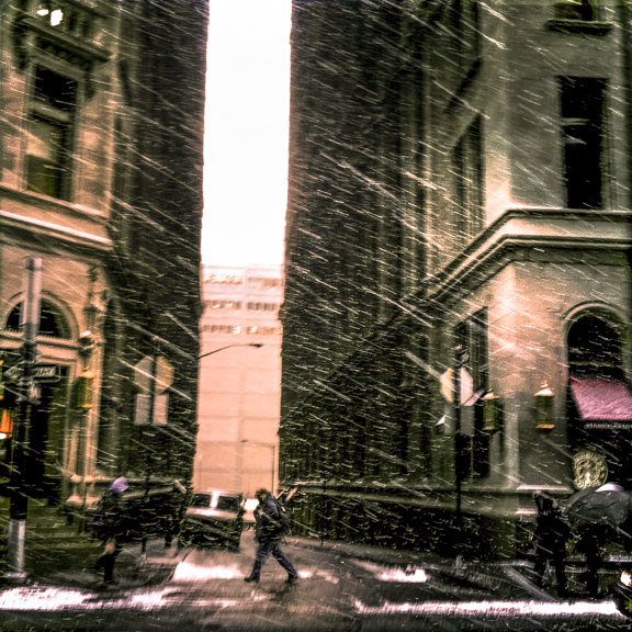 Lower Broadway, New York, NY, USA. January 25, 2011, 10:13:54am  Latitude: 40°42'32''N, Longitude: 74°0'37''W  © Robert Herman