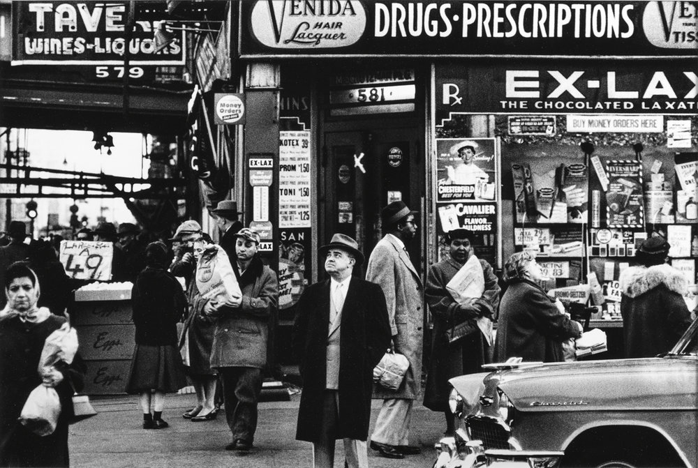 William Klein.  Venida and Drug Store, New York,  1955. Gelatin silver print.