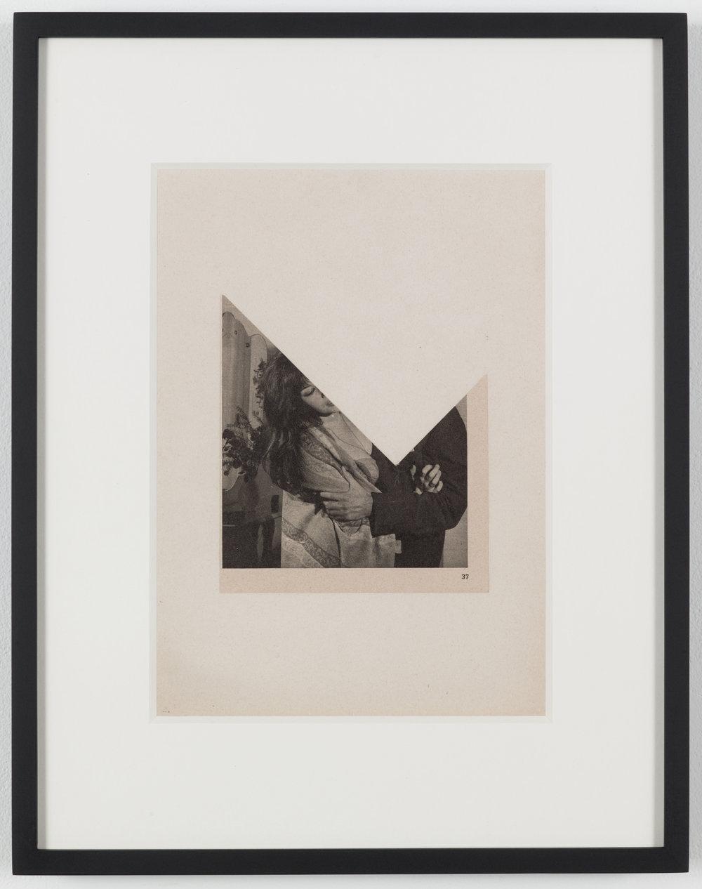 Kiss 1 (Photoroman) 1976, Collage © John Stezaker & Petzel Gallery