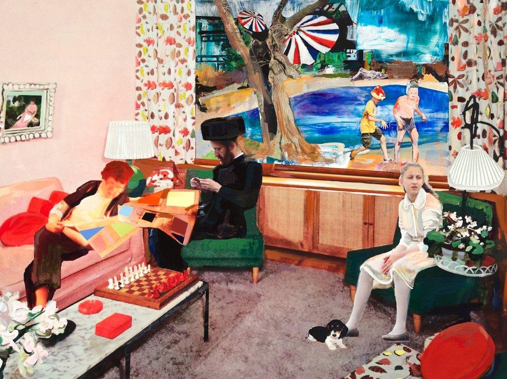 Elizabeth Huey,  Waiting Room , 2014.