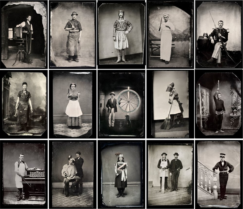 """Unidentified Photographer, Occupational Portraits (15 Tintypes), CA. 1865-1900"" Courtesy The Walther Collection"