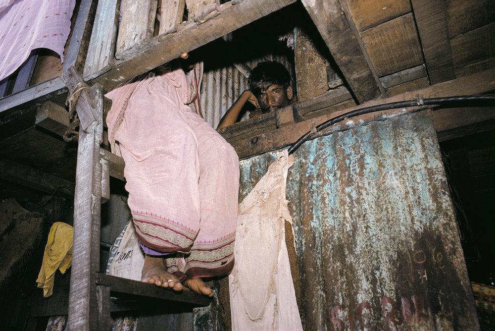 Ram Rahman , Slum Dweller, Dharavi, Bombay, Maharashtra , 1990.