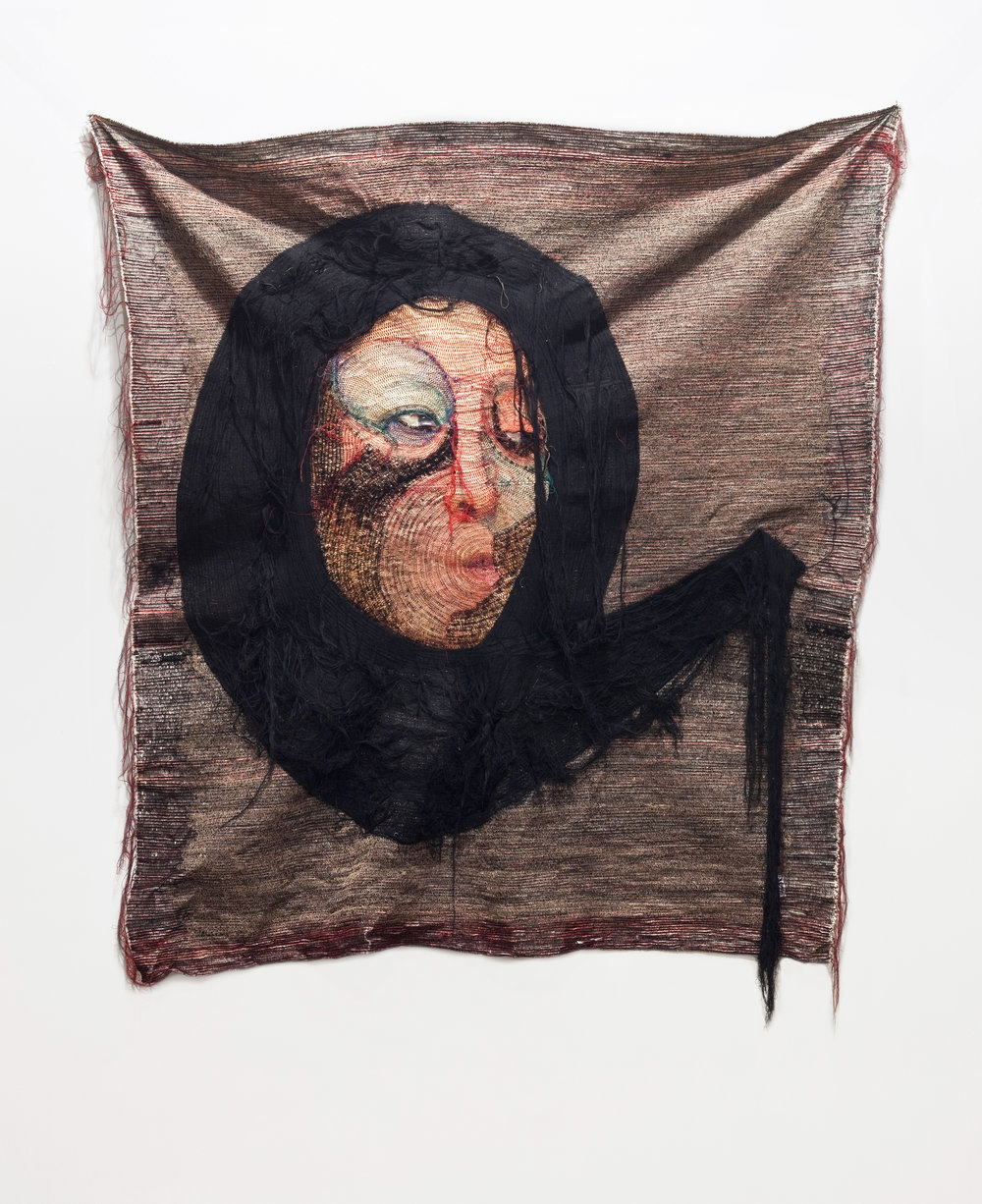 Rag face #63, 2013, Sewing on Fabric and Photograph Unique. Courtesy Yossi Milo Gallery, New York.  © Yoon Ji Seon