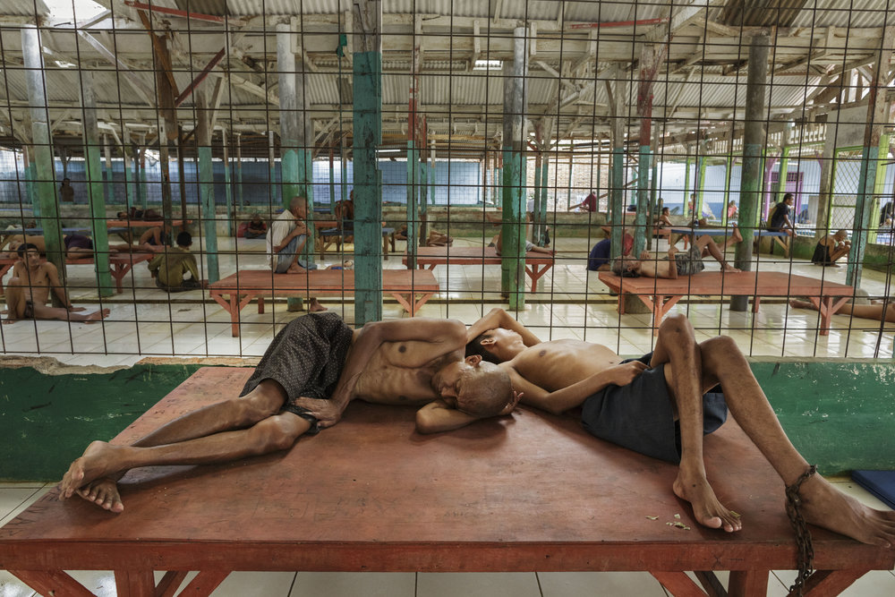 © Andrea Star Reese. March 21, 2016 Galuh Rehabilitation Center, Bekasi, Indonesia, Thousands of Mentally Ill Indonesians Are Imprisoned in Shackles, March 2016. From Disorder, 2011--2016, an ongoing documentary photo-reportage concerning abuse against people with psychosocial disabilities in Indonesia. Publication: TIME