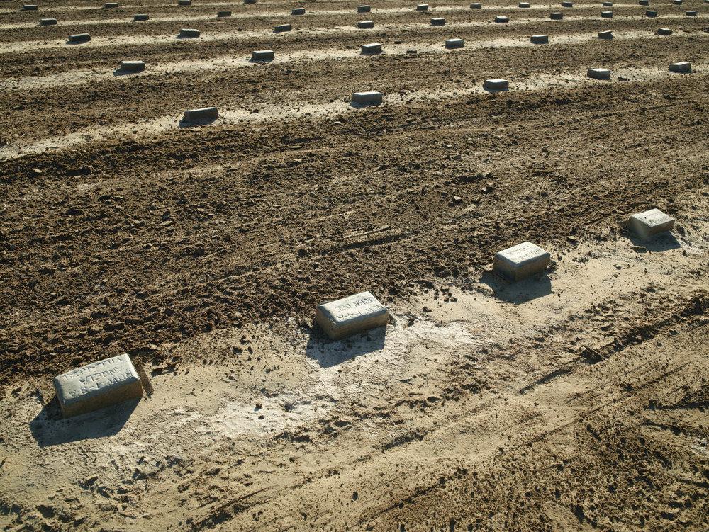 Richard Misrach,  John Doe, pauper's grave, Holtville, California , 2013.