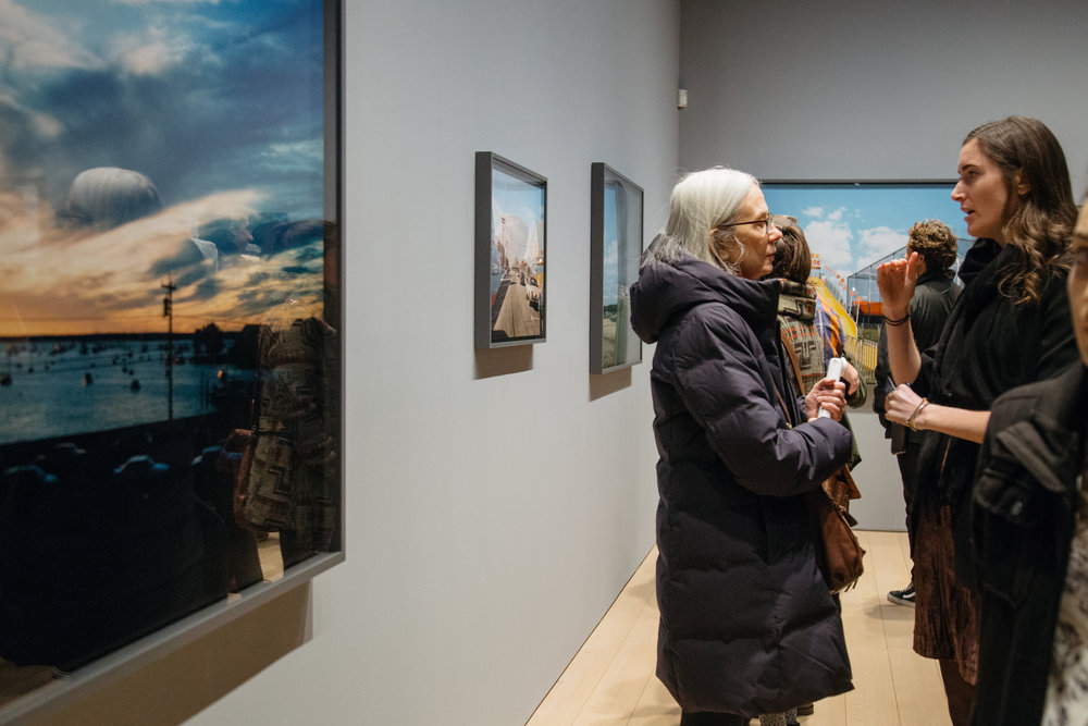 Spectators are shown at Paul Kasmin Gallery during the opening reception on Wednesday, January 17. © Nicole Angeles
