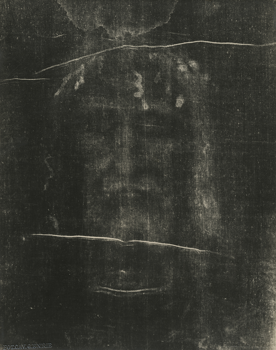Giuseppe Enrie (Italian 1886-1961) Detail of the Shroud of Turin, 1931. Courtesy of Hans P. Kraus Jr. Fine Photographs.