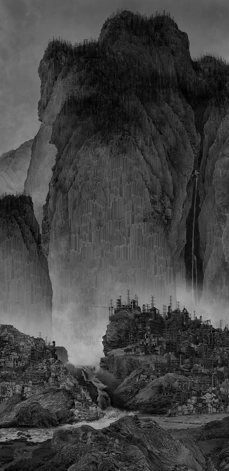 Travelers among Mountains and Streams, 2014 © Yang Yongliang