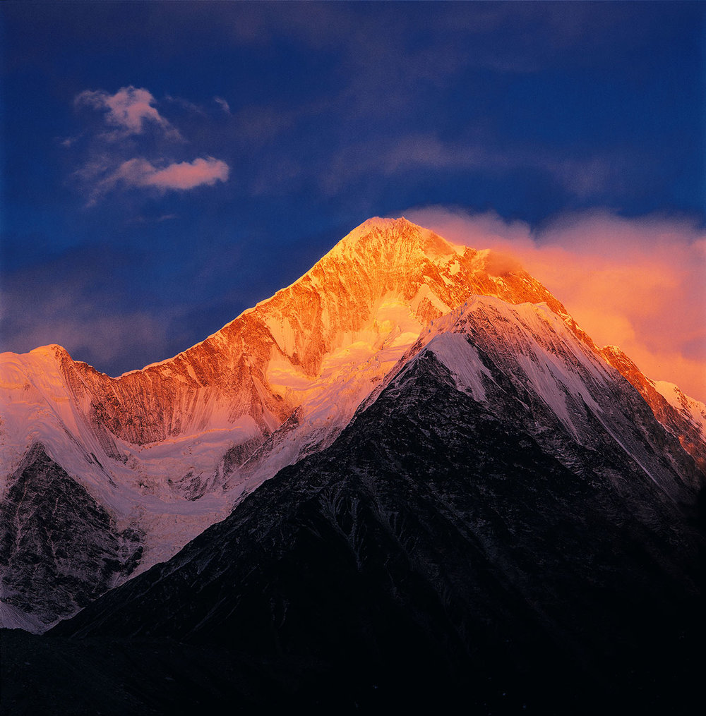 Minyak Gangkar in the Last Light of the Sun, 2003 © Zhang Anlu