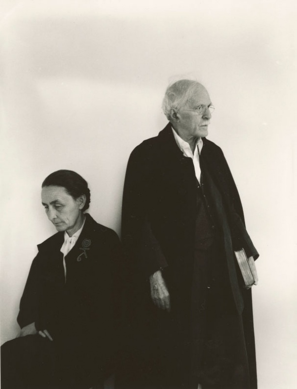 © Arnold Newman.Alfred Stieglitz and Georgia O'Keeffe, 1944