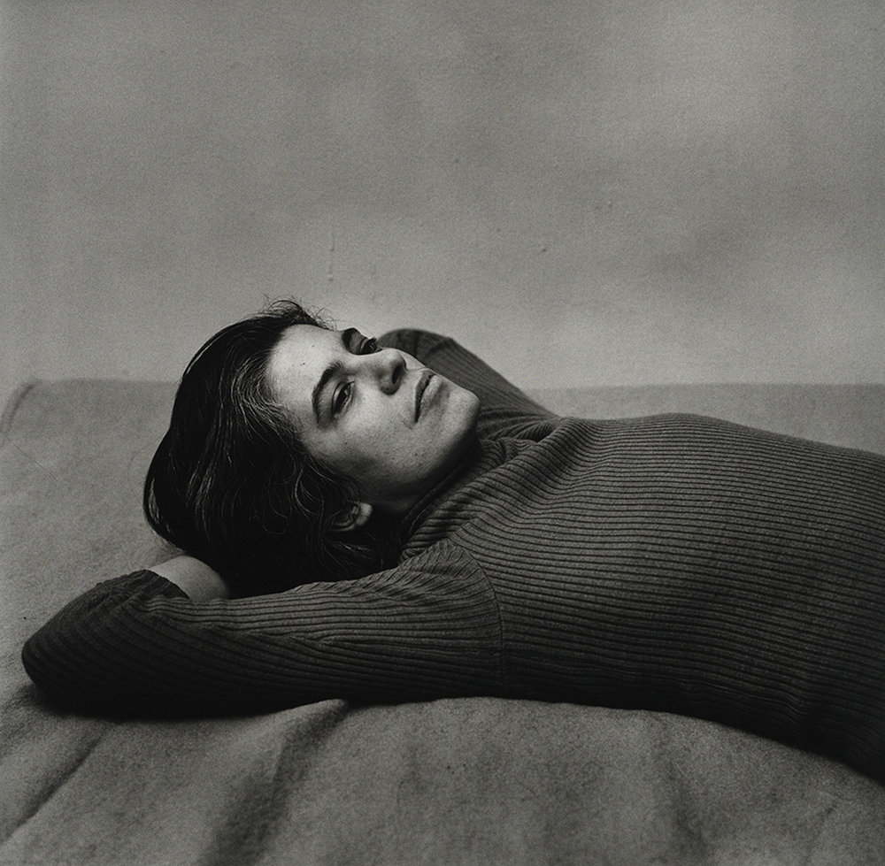 Susan Sontag, 1975, gelatin silver print, purchased on The Charina Endowment Fund, The Morgan Library & Museum, 2013.108.8.2310. © Peter Hujar Archive, LLC, courtesy Pace/MacGill Gallery, New York and Fraenkel Gallery, San Francisco.