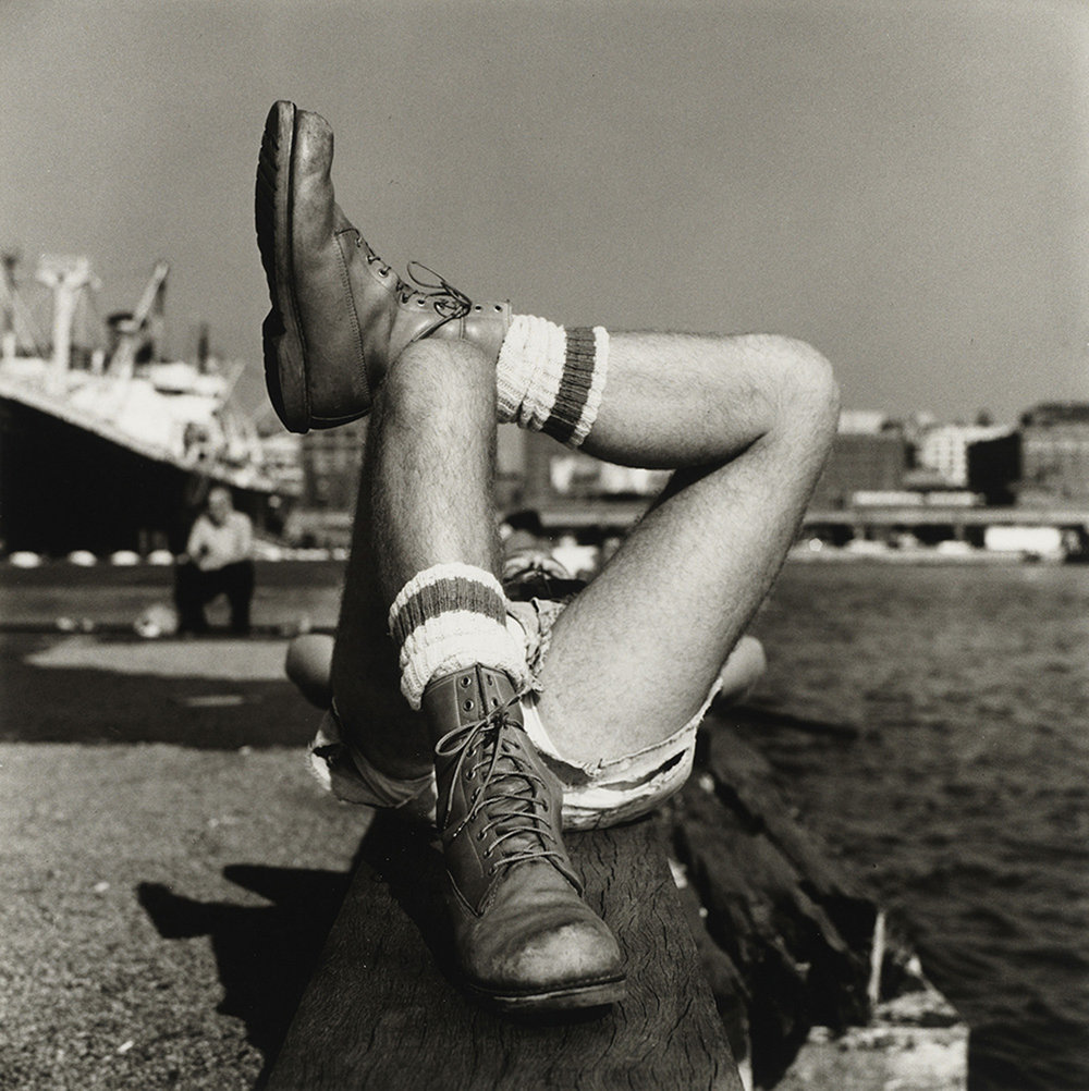 Christopher Street Pier (2), 1976, gelatin silver print, purchased on The Charina Endowment Fund, The Morgan Library & Museum, 2013.108:1.84. © Peter Hujar Archive, LLC, courtesy Pace/MacGill Gallery, New York and Fraenkel Gallery, San Francisco.