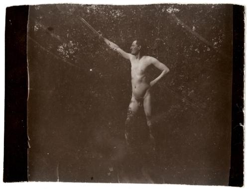 Edvard Munch Edvard Munch Posing Nude in Åsgårdstrand, 1903 Original: Collodion contact print Courtesy of Munch Museum