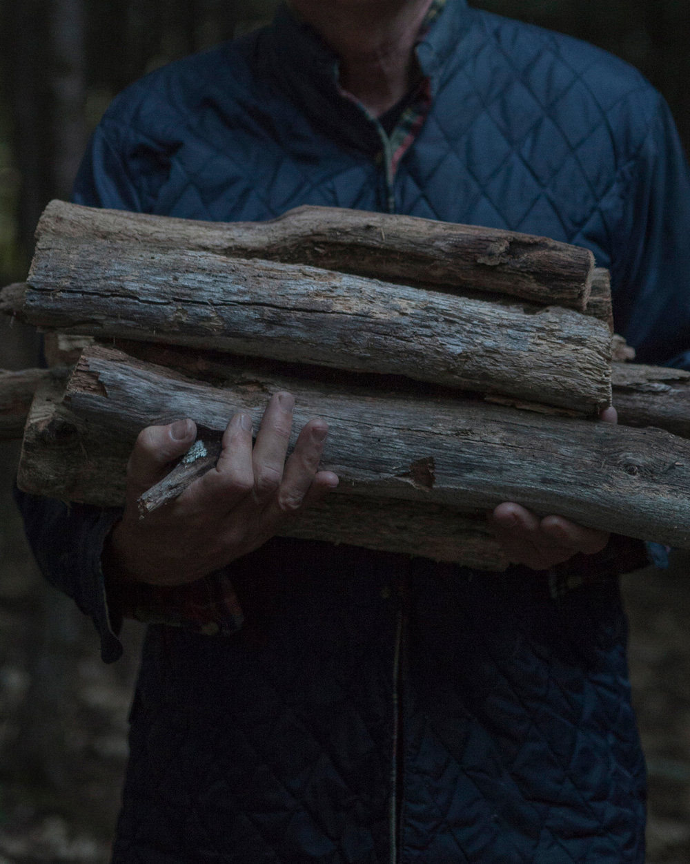 Dad With Firewood © Amani Willett